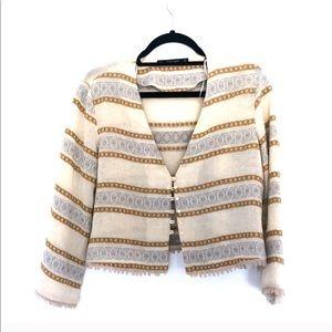 Zara Crop Knitted Sweater Jacket